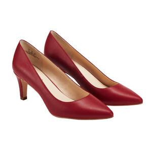 Wedding/Party Women's Shoes Ladies Stiletto High/Mid  Heel Pumps Slip On UK8 Red