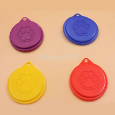 2pcs New Pet Dog Cat Food Snack Can Tin Lid Covers Food Cover Kitchen Storage AU