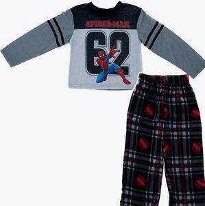 Spiderman Marvel 4 5 XS 10-12 L 2 piece Sleepwear boys Pajamas Set New w Tags