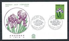 "Andorre - FDC  Enveloppe 6/4/1974 - N°234 Flore ""Iris"""