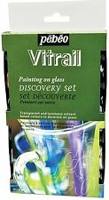 Pebeo Vitrail Stained Glass Paint Discovery Set - 12 x 20 ml