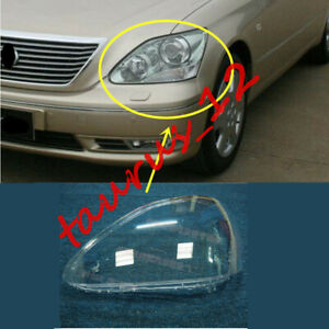 1pcs Left Side Clear Headlight Cover + Glue Replace For Lexus LS430 2004-2005-JW