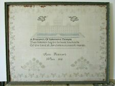 More details for georgian early 19thc antique sampler solomans temple dated 1815 by ann hamer