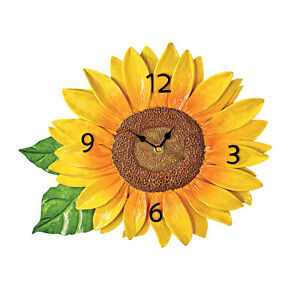 Hand-Painted Country Sunflower Wall Clock Decor