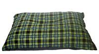 KosiPet® Extra Large Budget Economy Fibre Cushion Green Check Dog Bed,Beds