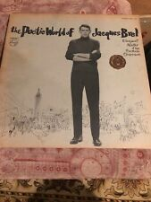 JACQUES BREL THE POETIC WORLD OF JAQUES BREL LP