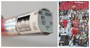 "VINTAGE SEALED MICHAEL JORDAN POSTER ~ 1995 Red Away Jersey 22x34"" Starline Rare"