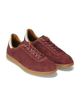 Cole Haan Grand Pro Turf Men Athletic Sneaker Size US 7.5M Mahogany Suede C29971