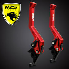 MZS CNC Brake Clutch Levers For Kawasaki ZX6R/Z1000 07-2013/ZX10R 06-2013 Red
