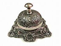 Antique Brass Ornate Hotel Front Desk Bell ~ Vintage Sale Service Counter Bell