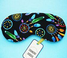 Eye Sleep Mask Soft Cotton Dream catcher Travel Gift Blackout Relax Cute UK Made