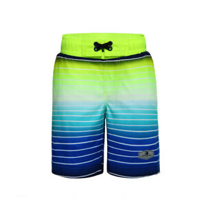 Boys' Elastic Waist Drawstring Swim Trunks with Mesh Lining Board Shorts UPF 50+