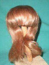 """doll wig/ human hair 10.5 to 11"""" strawberry blond / chin length/hand knitted"""
