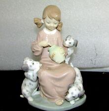 Lladro Porcelain Spain Honey Lickers 1248 Miel Girl Dogs Dalamatian Retired