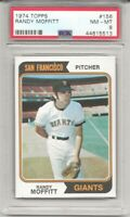 SET BREAK - 1974 TOPPS #156 RANDY MOFFITT, PSA 8 NM-MT, SAN FRANCISCO GIANTS