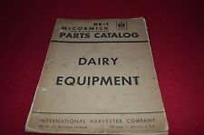 International Harvester Dairy Equipment Dealer's Parts Book Manual AMIL8