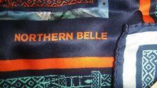 "Vintage Belmondo Northern Belle Multicoloured Square Scarf 100% Pure Silk 40"""