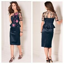 Short Sleeve Floral Dresses for Women with Embroidered