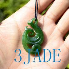 Green Nephrite Jade Manaia Pendant Maori Design Greenstone Pounamu Necklace