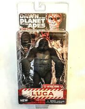 """LUCA Dawn of the Planet of the Apes NECA 7"""" Gorilla Action Figure New Sealed PKG"""