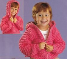 Knitting Pattern for Chunky Jacket Cardigan Quick To Make With Or Without Hood
