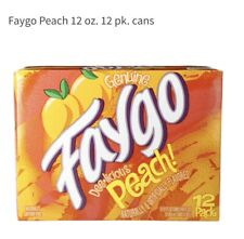 Only Made In Detroit Michigan!12 Pack Of Rare Peach Faygo �