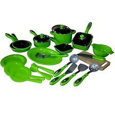 28 Pces Enfants Appareils de Cuisine Vert Vaisselle Poupée Lot pour