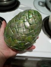 """Vintage paper mache large green acorn or pine cone, glossy finish 6"""""""