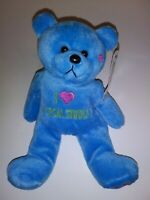 "Universal Studios I Love Universal Studios Blue Bear   9"" Plush Stuffed Animal"