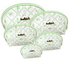 Set 5 necessaire trousse bathroom bag beauty cosmetic perfumes holder green