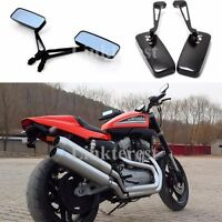 Black CNC Aluminum Motorcycle Rearview Side Mirrors Custom For Honda GROM MSX125