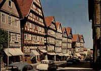 BAD WILDUNGEN Hessen ~1960 Autos Fachwerkhäuser Brunnenstrasse color Postkarte