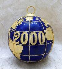 2000 Cloisonne Globe Christmas Ornament Holiday