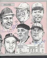 1990 St. Louis Sportwriters Program (8 Autos with 4 HOF with Musial, Spahn, Mize