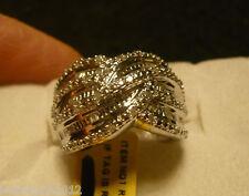 Diamond Ring  Size 7  45diamonds(Rnd & Bag.) .40tcw MSRP$799