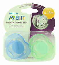 Philips Avent Freeflow Pacifier 6-18m Blue/Green 2 ct. Sealed Fresh