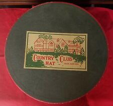 Vintage Decorative Country Club hat box.