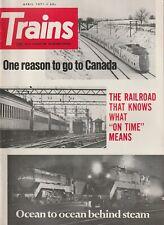 TRAINS Magazine Volume 31 Number 6 April 1971