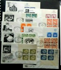 United Nations Complete year 1958 FDC , all 10 with MI Blocks