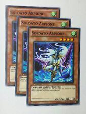 Set 3X SOLDATO ARPIONE  GENF-IT018 Comune in Italiano YUGIOH