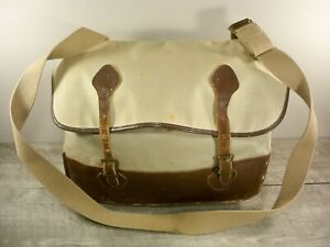 Vintage LL Bean Script Cursive Label Shell Messenger Shoulder Hunting Pack Bag