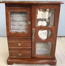 Vintage Jewelry Box Brown Wood Very Nice
