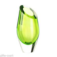 Green abstract Handmade modern art Glass Sculpture Flower Vase centerpiece