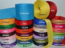 "3/8"" 5/8"" 7/8"" 1.5"" Grosgrain Ribbon 4 Yards of 1 Color Solid Bulk Wholesale"