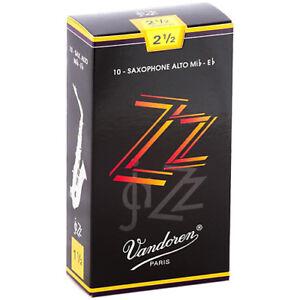 Vandoren ZZ Jazz Alto Sax Reeds Strength 2.5 (Box of 10)