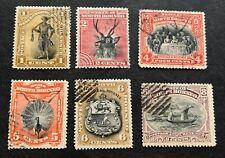 British North Borneo - 6 used stamps