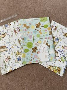 Three Sheets Of Childrens Wrapping Paper With Tags