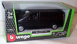 Mercedes Benz Vito Van in Matt Black 1:32 Scale Diecast  burago New in Box
