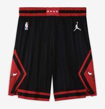 Jordan NBA Chicago Bulls Swingman Shorts Mens Size Large Black Red CV9555 010