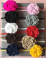 Felt Flower Baby Headband Girl Headbands Newborn Toddler Girls Christening+ Lot